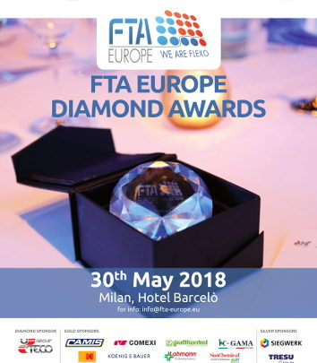 FTA Europe Diamond Awards 2018 – Comexi as last Gold Sponsor!