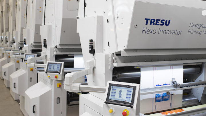 New SAVEink chamber doctor blade for narrow web flexo highlights TRESU's presence at Labelexpo India 2018