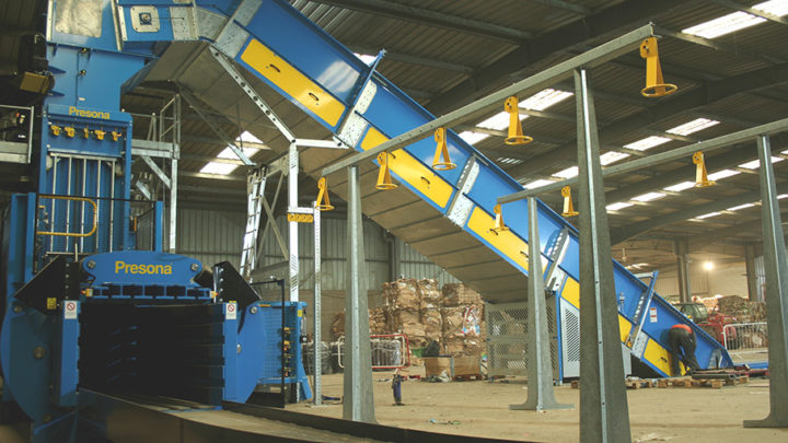 British company Mick George gets Presona baler to help with increasing cardboard volumes