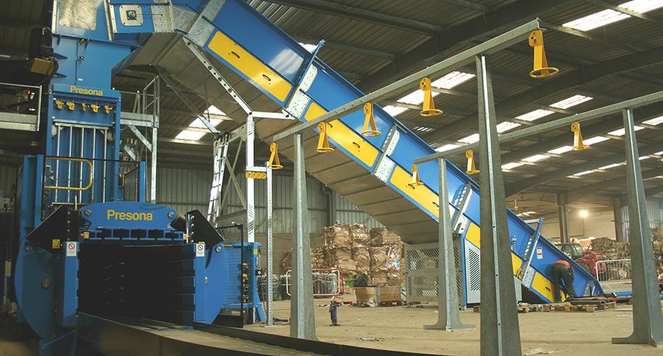 British company Mick George gets Presona baler to help with increasing cardboard volumes