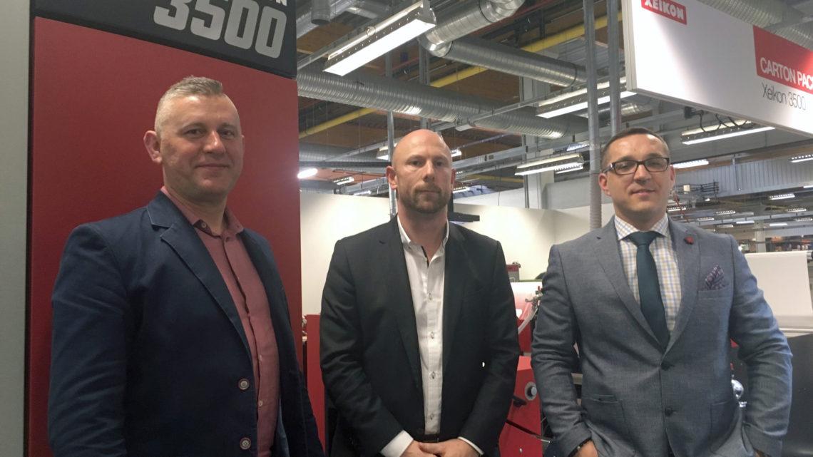 Xeikon and Technograph sign partner agreement at Xeikon Café 2019
