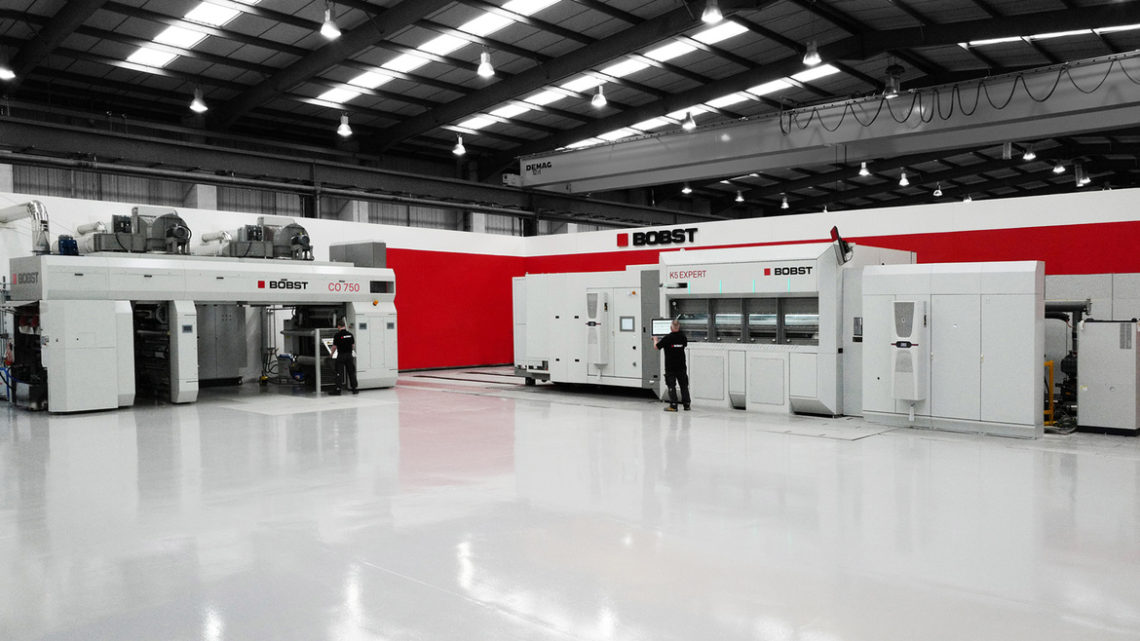 CO 750 coating line installed in Bobst Manchester Competence Centre