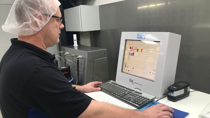 Pharmalabel assures quality and reduces risk in label supply chain with GSE Colorsat ink dispenser and Ink manager software