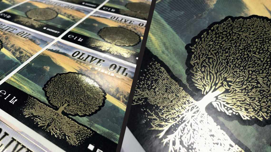 Hot foil stamping: a very effective way to make a brand's label stand out in a crowd of labels
