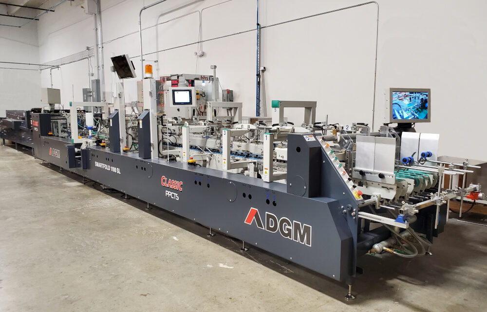 PREMIUM PAPER BOX SELECTS THE PPCTS DGM SMARTFOLD 1100SL CLASSIC FOLDER GLUER TO EXPAND FOLDING CARTONS PRODUCTION