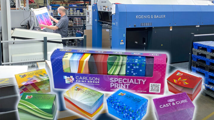 Carlson Print Group Makes Major Advancements In Premium Packaging Market With New Koenig & Bauer Rapida 105 PRO Six-Color Press