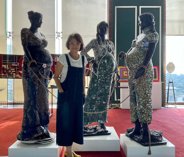IM group's foundation chair exhibits sculptures of unity to give global hope and support children in need